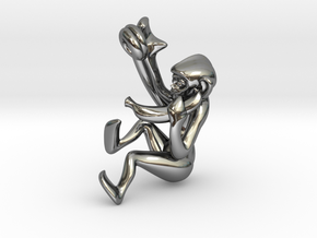 3D-Monkeys 366 in Fine Detail Polished Silver