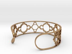 Mandelbrot Due Bracelet 7in (18cm) in Polished Brass
