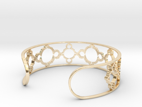 Mandelbrot Due Bracelet 7in (18cm) in 14k Gold Plated