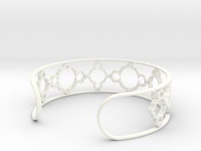 Mandelbrot Due Bracelet 7in (18cm) in White Processed Versatile Plastic
