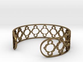Mandelbrot Uno Bracelet 7in (18cm) in Polished Bronze