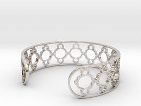 Mandelbrot Uno Bracelet 7in (18cm) in Rhodium Plated Brass