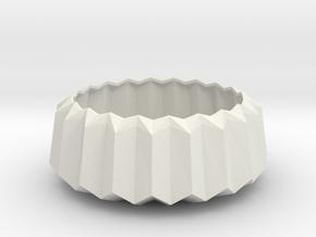Geometric Mid-Century Design Faceted Tea Light Hol in White Natural Versatile Plastic