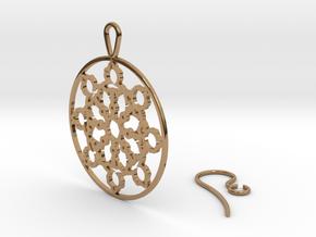 Mandelbrot Web Earring in Polished Brass