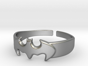 Bat Man Ring 1 in Natural Silver