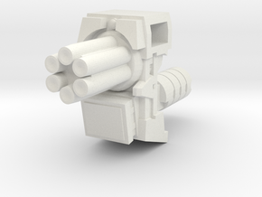 Ratchetrooper Weapon 04 - Gatling Gun in White Natural Versatile Plastic