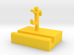 104102240 丁彥棠Phone Holder in Yellow Processed Versatile Plastic