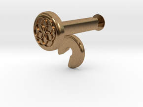 XuGong V2 - Locks for Vibration Dampers in Natural Brass