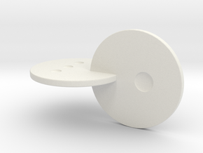 Rolling Disks d4 in White Strong & Flexible