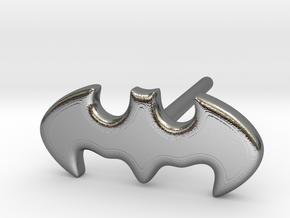 Bat Man Earring in Polished Silver