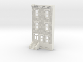 N SCALE ROW HOME FRONT 3S  in White Strong & Flexible