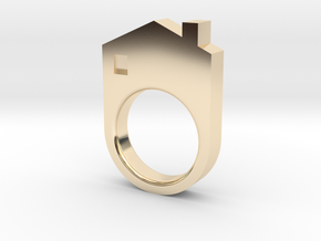 House Ring in 14K Yellow Gold