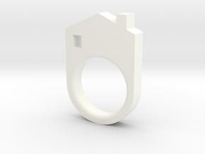 House Ring in White Processed Versatile Plastic