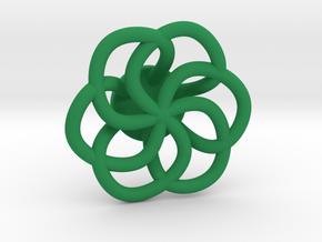 Orecchino Intreccio Fiore Come Anello in Green Processed Versatile Plastic