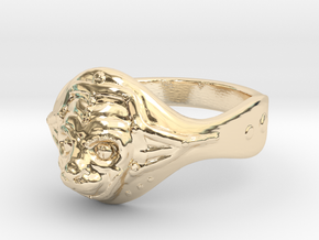 Hanuman ring(Japan 10,USA 5.5,Britain K)  in 14k Gold Plated Brass