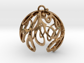 Mistletoe Ornament in Polished Brass