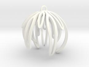 Rosemary Ornament in White Processed Versatile Plastic