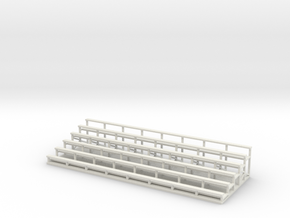 Bleachers 1-87 HO Scale in White Natural Versatile Plastic