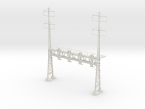 HO Scale PRR W-signal LATTICE 4 Track  W 2-2 PHASE in White Natural Versatile Plastic