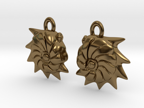 Cristellaria earrings in Polished Bronze