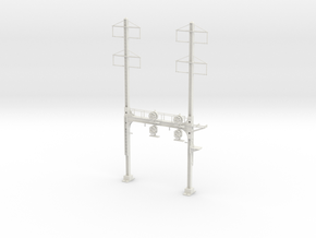 HO Scale PRR W-signal Beam 2 Track  W 2-2 PHASE R in White Natural Versatile Plastic