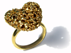 365 Hearts Ring in 14k Gold Plated Brass: 7 / 54