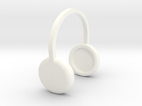 Doll Headphones in White Strong & Flexible Polished