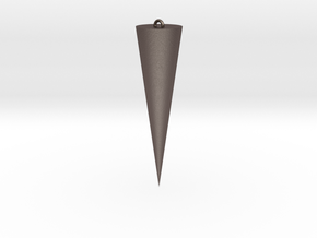 Personalized Cone in Polished Bronzed Silver Steel