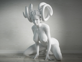25cm  Big Evil Girl in scale 1/4 in White Strong & Flexible