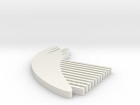 Feather Comb in White Natural Versatile Plastic