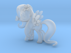 Fluttershy 1 Full Color - L1 in Smooth Fine Detail Plastic