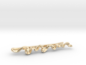 Smoke Trail Tie Clip in 14k Gold Plated Brass