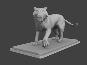 Tiger figure in Smooth Fine Detail Plastic