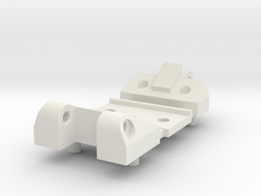Workable Hinge for German Tanks 1/16 in White Natural Versatile Plastic