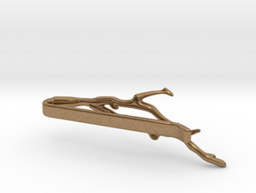 Branch Tie Clip in Natural Brass