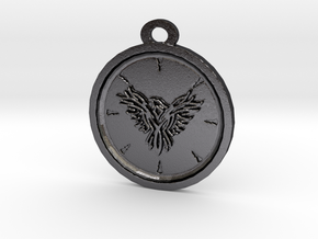 Eagle Pendant in Polished Grey Steel