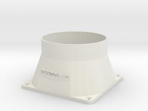 120mm fan Shroud in White Strong & Flexible