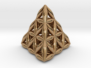 Flower Of Life Tetrahedron in Polished Brass