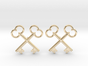 The Society of the Crossed Keys Lapel Pins in 14K Yellow Gold