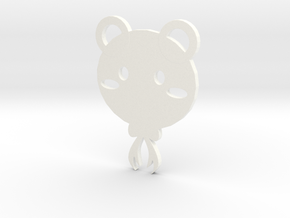 bear coaster in White Strong & Flexible Polished