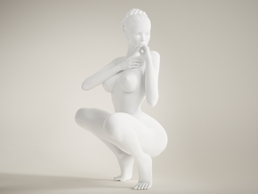 Long Leg Lady scale 1/10 011 in White Strong & Flexible Polished