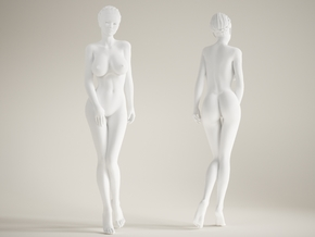 Long Leg Lady scale 1/10 013 in White Strong & Flexible Polished