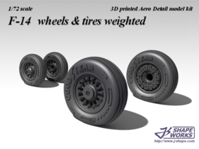 1/72 F-14 wheels  & tires weighted (2 set) in Frosted Ultra Detail