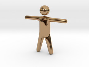 Stickman in Polished Brass