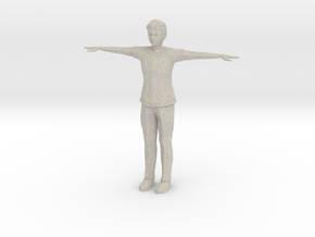 Low Poly Male in Natural Sandstone
