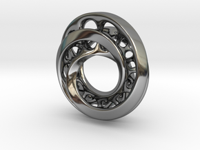 Circle-RoyalModel in Fine Detail Polished Silver