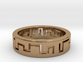 Labyrinth Ring in Polished Brass