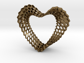 LOVEhEART in Polished Bronze