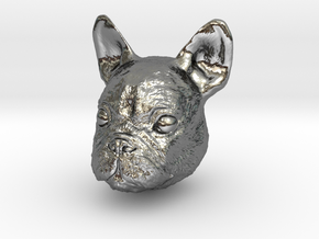 Dog in Fine Detail Polished Silver