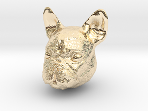 Dog in 14k Gold Plated Brass